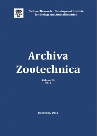 Archiva Zootechnica Vol. 14 - 2011