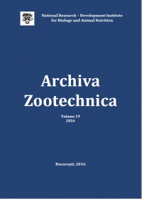 Archiva Zootechnica Vol. 19 - 2016