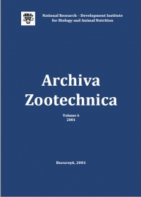 Archiva Zootehnica Vol. 6, 2001