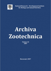 Archiva Zootehnica Vol. 10, 2007
