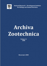 Archiva Zootechnica Vol. 11 - 2008