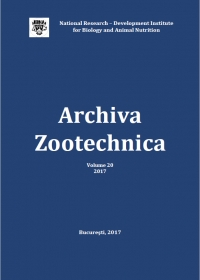 Archiva Zootechnica Vol. 20 - 2017