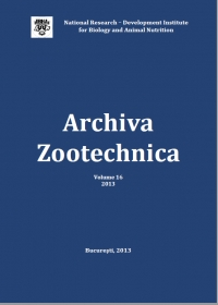 Archiva Zootechnica Vol. 16 - 2013