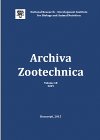 Archiva Zootechnica Vol. 18 - 2015