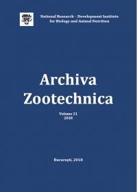 Archiva Zootechnica, vol. 21, no. 1, 2018