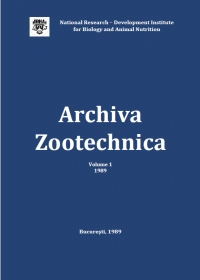Archiva Zootechnica Vol. 1 - 1989
