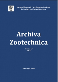 Archiva Zootechnica Vol. 15 - 2012