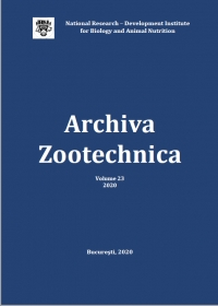Archiva Zootechnica, vol. 23, 2020