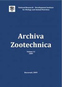 Archiva Zootechnica Vol. 12 - 2009