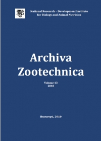 Archiva Zootechnica Vol. 13 - 2010