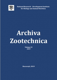 Archiva Zootechnica, vol. 22, 2019